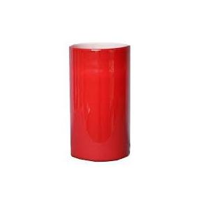 Florero Cilíndrico De Vidrio Rojo 25x9.5cm