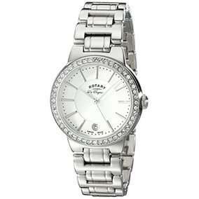 Rotary Womens Lb90081/02l Analog Display Swiss Quartz Silver
