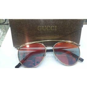 Oculos De Sol Feminino Gucci Laranja 5677