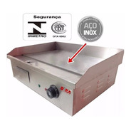 Chapa Elétrica Profissional Inox Grill Sanduicheira Lanches