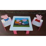 Peppa Pig Mesita Y Sillas Infantil Por Pedido .