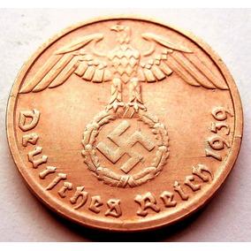Alemania Nazi Espectacular 1 Reichspfenig 1939 Tercer Reich
