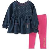 Conjunto De Leggings De Túnica Juicy Couture Para Niñas, Cha