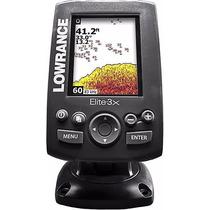 Sonar Fishfinder Sonda Echo Elite3x Lowrance Colorido S/ Gps