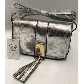 Bolsa Pequena Prata - Ferragem Dourada - Transversal - Wj