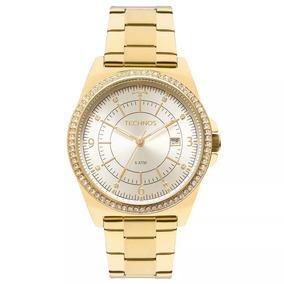 Relógio Technos Feminino Dourado Com Swarovisk - 2115mmo/4x
