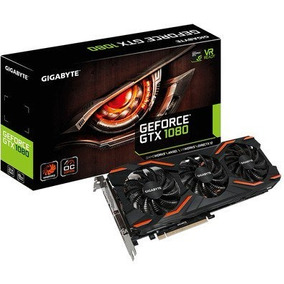 Placa De Vídeo Gigabyte Geforce Gtx 1080 Windforce 8gb Gv-n1