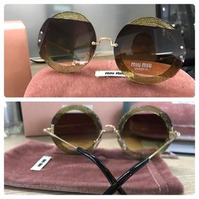 Óculos De Sol Marrom Degrade Oculos - Óculos De Sol Miu no Mercado ... 2e94551578