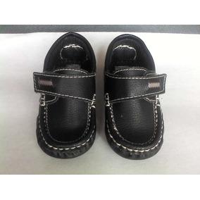 Zapatos Negros Tipo Mocasín Para Bebes Varón