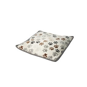 Tapete Flannel C/bies Hueso- Huellas Cafe (75 X 75 Cm) Acl