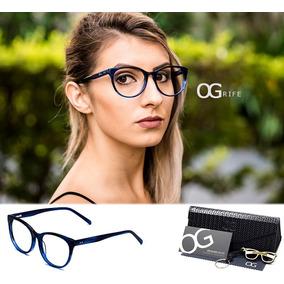 Armação Oculos Grife Og 541-c Feminino Com Lente Sem Grau
