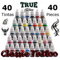 Tinta Para Tatuagem Kit 40 Tintas - Tattoo Biqueira