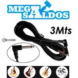 Megasaldos Cable Guitarra Instrumento Musica 3 Metros 90° Hq