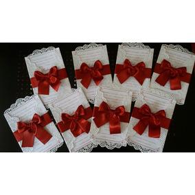 Envelope De Convite Para Casamento Simples Com Laco De Renda Arte