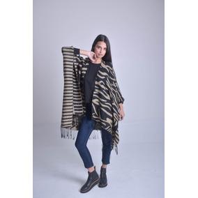 Sweater Mujer Poncho Shasta Acrilico, Poliester Y Lana