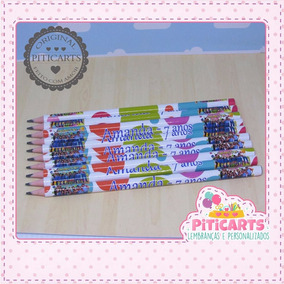 Lápis Personalizado Chiquititas 20 Unidades