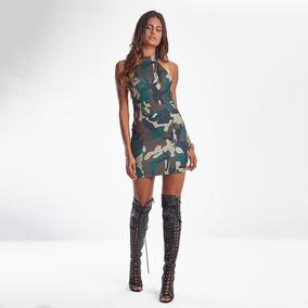 Vestido Feminino Lbm Army Camouflage