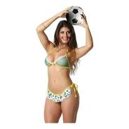 Mini Fantasia Torcedora Sexy Brasil Copa Do Mundo