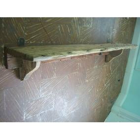 Antigua Repisa Rustica De Madera Reciclada