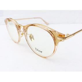 Oculos Dourado Para Grau Armação Feminina Importado -di201 · R  134 90 f8f3c890ab