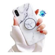 Funda De Marmol + Pop iPhone Pop Dama Hombre Mujer Goma Moda
