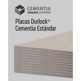 Placa Durlock Cementia Estándar 10mm 1.20x2.40m Exterior
