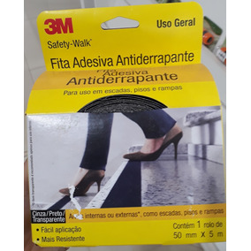 Fita 3m Antiderrapante Safety Walk 50x5m Preta - Worker