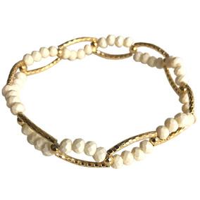 Esclava De Chapa De Oro - Bashari - Chain Bracelet - Blanco