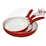 Sartén Ceramica Juego Set X3 Antiadherente Tv Fry Pan Oferta