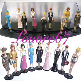 9 Figuras Barbie Ashton Drake De Colección, Gratis Exhibidor