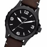 Reloj Fossil Jr1450 Carcasa Acero Empavonado Malla Cuero