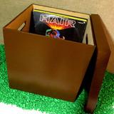Porta Lp Caixa Marrom Escuro Para Disco Vinil - Long Play