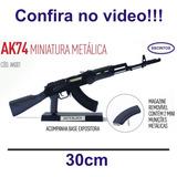 Rifle Ak74 - Armas Miniatura Metálica 30cm Colecionador