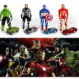 Muñeco Vengadores Articulados + Carrito Avengers Marvel 15cm