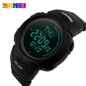 Reloj Militar 3 Alarmas Brújula Hora Mundial Sumergible 50mt