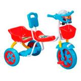 Triciclo Budada Tr36 Canasto Y Tablero Musical Doble Asiento