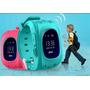 Reloj Gps Para Niños Celular,gratis Sim Rosa, Azul Claro
