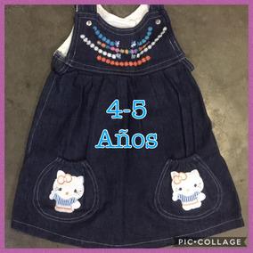 Vestido De Blue Jeans Tipo Jumper Para Niña