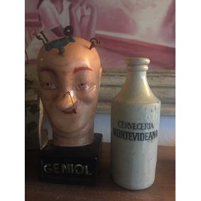 Geniol Cabeza Farmacia Barbacoa Coleccion Retro Vintage 30cm