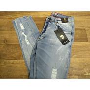 Calça Masculina Jeans John Jhones Super Skinny Com Lycra