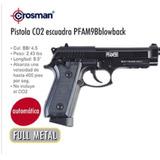Pistola Co2 Escuadra Pfam9bblowback Automatica