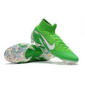 Chuteira Nike Cano Alto Mercurial Verde - Chuteiras de Campo para ... d6469ac507358