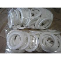 Ilhós,argola,d Plastico P/cortinas,7cm Branco 48pças=24pares
