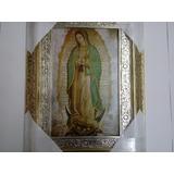 Cuadro Virgen De Guadalupe De 63 X 47 Cm. Hoja De Oro-plata