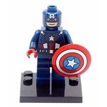 Boneco Lego Compativel Capitao America Vingadores Marvel Hq
