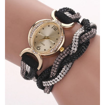 Reloj De Mujer Con Brazalete De Diamantes En Promocion!