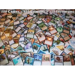 Lote Com 500 Cartas 350 Comuns E 150 Incomuns