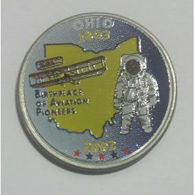 Estados Unidos Moneda Cuarto Dolar Ohio 2002 D Coloreado