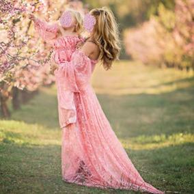 Vestido Ensaio Fotográfico Gestante Renda - Envio Imediato