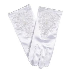 La Colección Comunión \beads Amp; Blossoms\ Gloves - Blanco